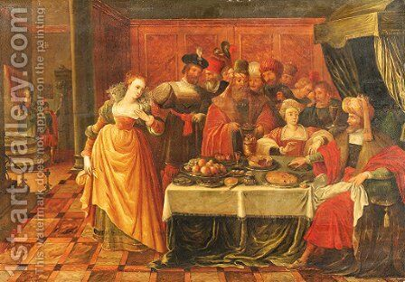 The Feast of King Herod by (after) Ambrosius Francken - Reproduction Oil Painting