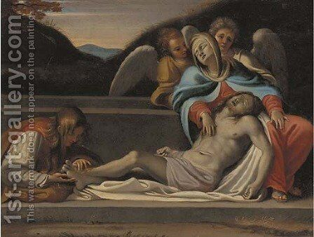 The Lamentation 2 by (after) Annibale Carracci - Reproduction Oil Painting