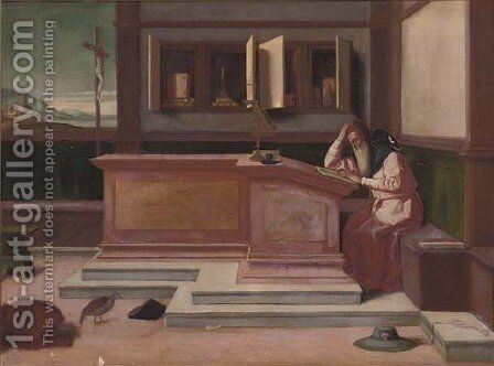 Saint Jerome in his study by Antonello da Messina Messina - Reproduction Oil Painting