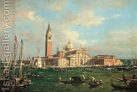 San Giorgio Maggiore from Canale San Marco by (Giovanni Antonio Canal) Canaletto - Reproduction Oil Painting
