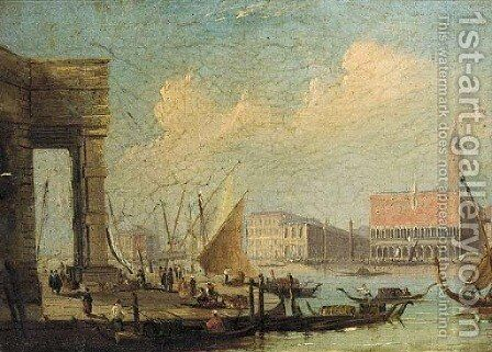The entrance to the Grand Canal from the Customs House, Venice by (Giovanni Antonio Canal) Canaletto - Reproduction Oil Painting