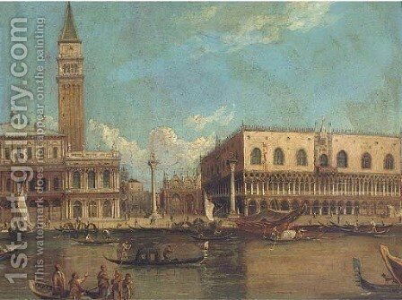 The Molo and the Doge's Palace, Venice by (Giovanni Antonio Canal) Canaletto - Reproduction Oil Painting