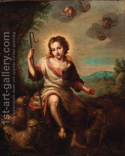The Infant Saint John the Baptist by Bartolome Esteban Murillo - Reproduction Oil Painting