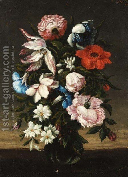 Flower in a vase by Bartolome Perez - Reproduction Oil Painting