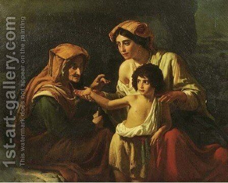 The fortune teller by (after) Cornelis Kruseman - Reproduction Oil Painting