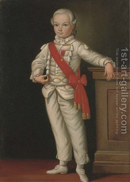 Portrait of a boy, full-length, with a medal and red sash by Cornelis De Vos - Reproduction Oil Painting