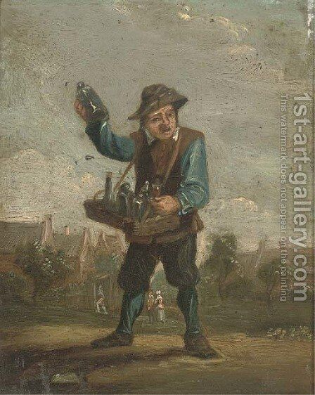 A wine seller by (after) David The Younger Teniers - Reproduction Oil Painting
