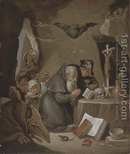 The Temptation of Saint Antony 2 by (after) David The Younger Teniers - Reproduction Oil Painting