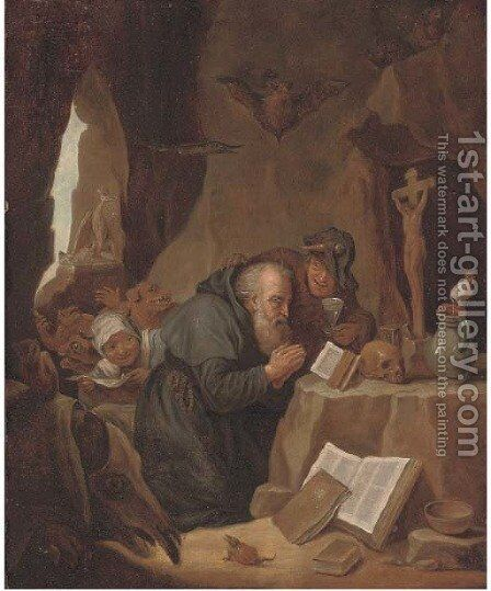 The Temptation of Saint Antony 3 by (after) David The Younger Teniers - Reproduction Oil Painting