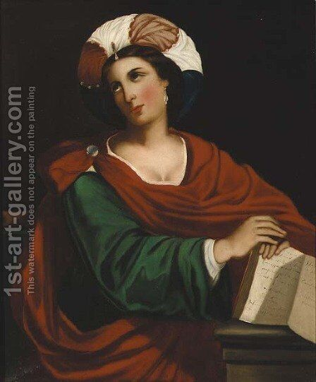A Persian sybil by (after) Domenichino (Domenico Zampieri) - Reproduction Oil Painting