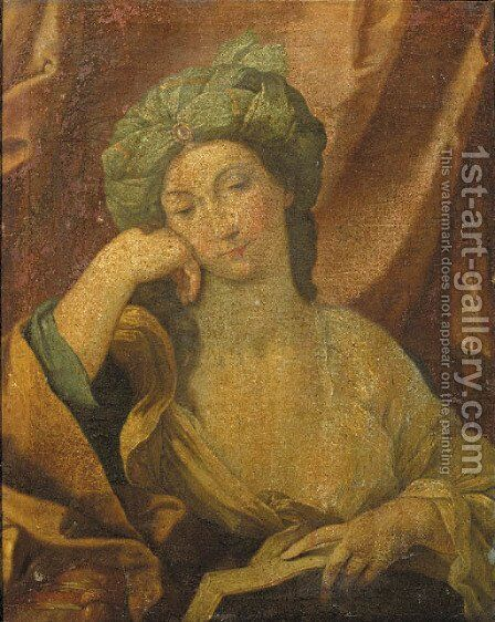 The Cumaean Sibyl 4 by (after) Domenichino (Domenico Zampieri) - Reproduction Oil Painting