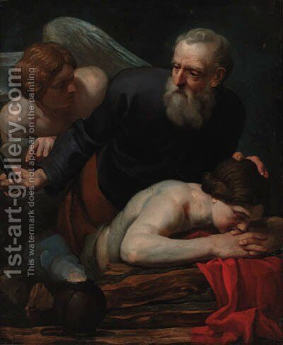 The Sacrifice of Isaac by (after) Ferdinand Bol - Reproduction Oil Painting