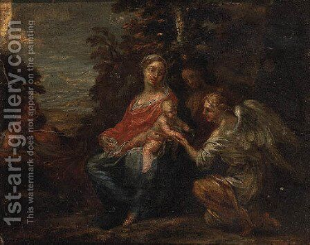 The Rest on the Flight into Egypt 2 by (after) Francesco Albani - Reproduction Oil Painting
