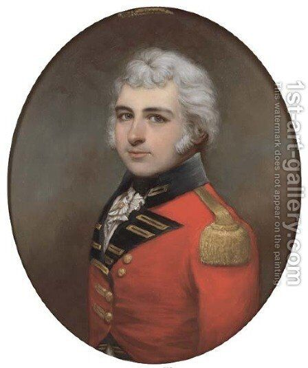 Portrait of Lt. Colonel F. F. Mannooch (1764-1809) by (after) Francis Alleyne - Reproduction Oil Painting