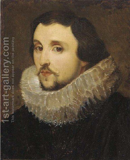 Portrait of a gentleman, bust-length, in a ruff by (after) Frans, The Elder Pourbus - Reproduction Oil Painting