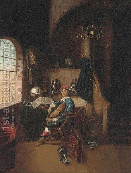 The pursuit of knowledge by (after) Gerrit Dou - Reproduction Oil Painting
