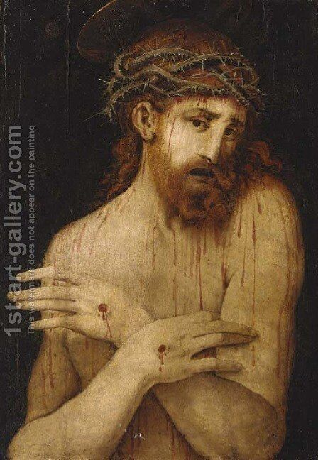 Ecce Homo by (after) Gianpietrino Ricci Or Pedrini - Reproduction Oil Painting