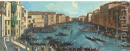 The Grand Canal, Venice by (Giovanni Antonio Canal) Canaletto - Reproduction Oil Painting