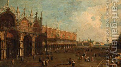 The Doge's Palace, Venice, looking towards the Piazzetta by (Giovanni Antonio Canal) Canaletto - Reproduction Oil Painting