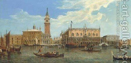 The Molo and the Piazzetta, Venice by (Giovanni Antonio Canal) Canaletto - Reproduction Oil Painting