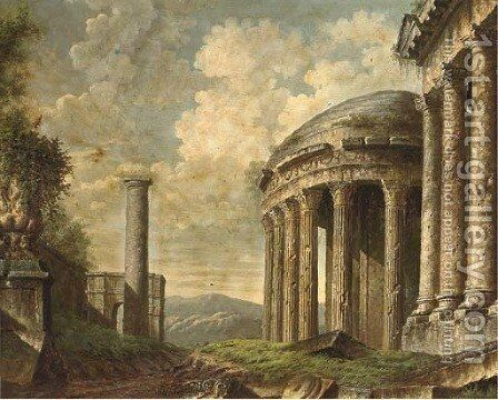 Classical ruins by Giovanni Battista Piranesi - Reproduction Oil Painting