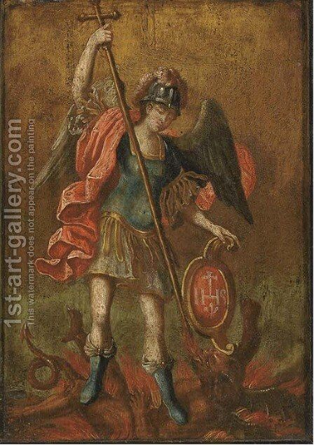 Saint Michael by Giovanni Francesco Guercino (BARBIERI) - Reproduction Oil Painting