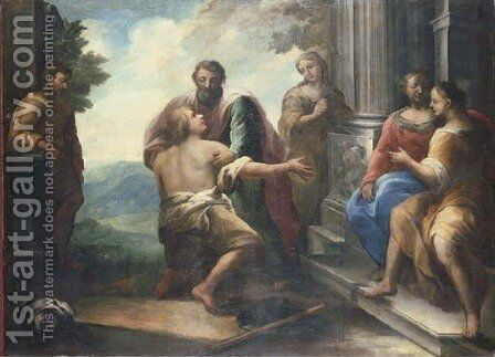 The Return of the Prodigal Son by (after) Giovanni Lanfranco - Reproduction Oil Painting