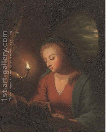 The Penitent Magdalen by (after) Godfried Schalcken - Reproduction Oil Painting