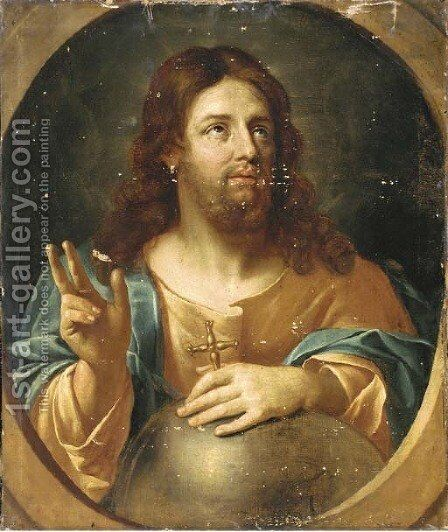 Salvator Mundi by (after) Guido Reni - Reproduction Oil Painting