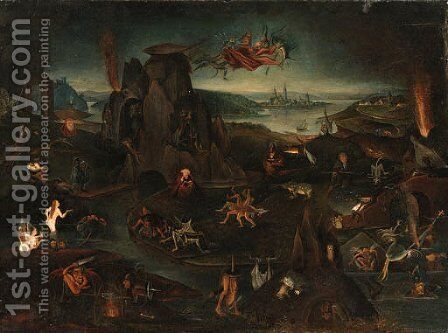 The Temptation of Saint Anthony by Hieronymous Bosch - Reproduction Oil Painting