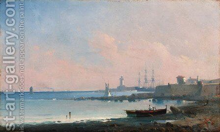Coastal scene by (after) Ivan Konstantinovich Aivazovsky - Reproduction Oil Painting