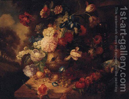 Flowers in an Urn by (after) Jacob Bogdani - Reproduction Oil Painting