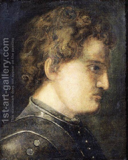 Study of the head of a man, in profile to the right by (after) Jan Lievens - Reproduction Oil Painting