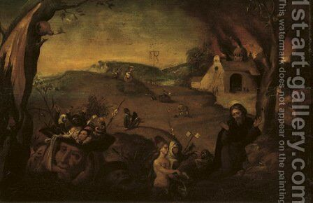 The Temptation of Saint Anthony by (after) Jan Mandijn - Reproduction Oil Painting