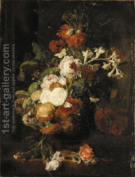 Still life 2 by (after) Huysum, Jan van - Reproduction Oil Painting
