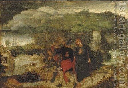 Christ on the Road to Emmaus by Joachim Patenier (Patinir) - Reproduction Oil Painting