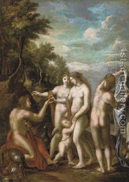 The Judgement of Paris by (after) Johann Rottenhammer - Reproduction Oil Painting