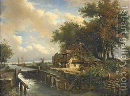 The Lock by (after) Constable, John - Reproduction Oil Painting