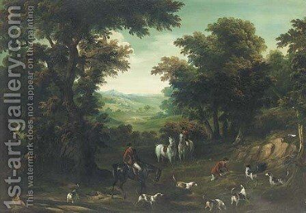 A hunting party at a covert by (after) John Wootton - Reproduction Oil Painting