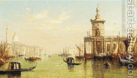 The mouth of the Grand Canal, Venice by (after) Joseph Mallord William Turner - Reproduction Oil Painting