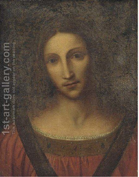 Head of a female Saint by (after) Leonardo Da Vinci - Reproduction Oil Painting