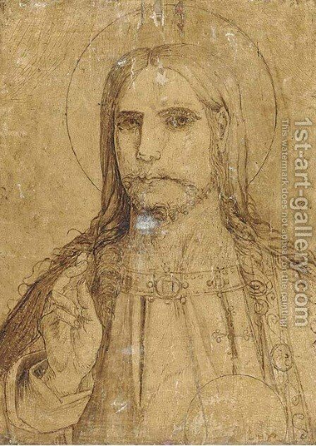 Salvator Mundi by (after) Leonardo Da Vinci - Reproduction Oil Painting