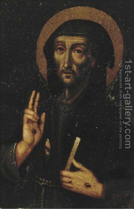 Saint Francis of Assisi by (after) Luis De Morales - Reproduction Oil Painting