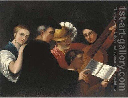 The music lesson by Caravaggio - Reproduction Oil Painting