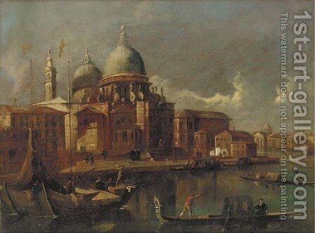 Sante Maria della Salute, Venice, looking west toward the Grand Canal by (after) Michele Marieschi - Reproduction Oil Painting