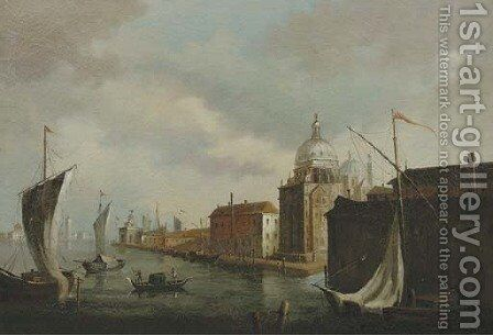 The Punta della Dogana with the Sante Maria della Salute, Venice by (after) Michele Marieschi - Reproduction Oil Painting