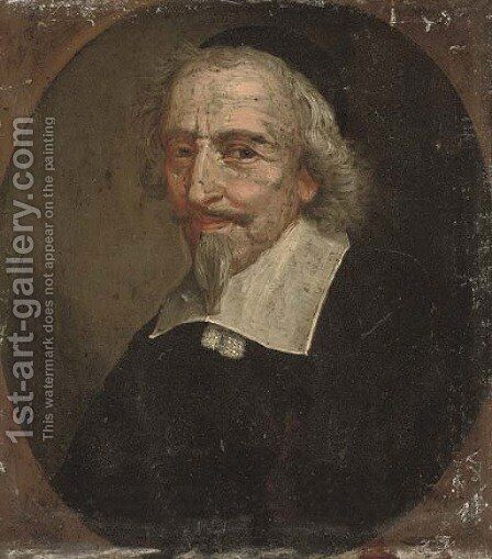 Portrait of a gentleman by (after) Phillippe De Champagne - Reproduction Oil Painting