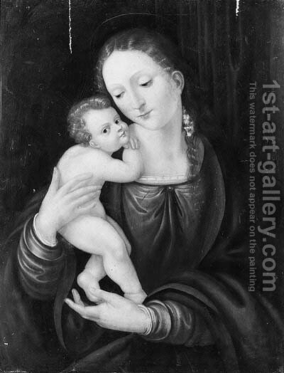 The Madonna and Child by (after) Peter (Peter Candid) Witter - Reproduction Oil Painting