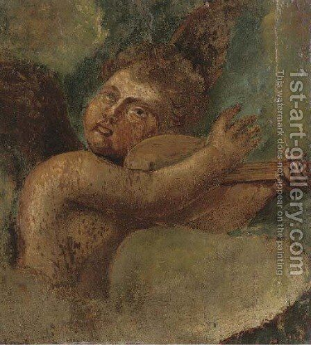 A winged cherub a fragment by Raphael - Reproduction Oil Painting