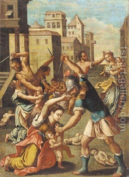 The Massacre of the Innocents by Raphael - Reproduction Oil Painting